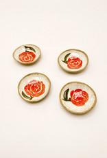 Alice Cheng Studio Ceramic Red Rose Little Dish