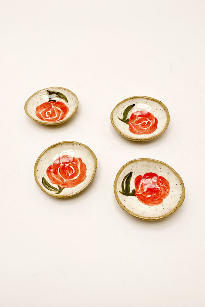 Alice Cheng Studio Ceramic Red Rose Little Dish