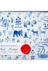 Mr. Boddington Cards Forest Animal Toile Notecards