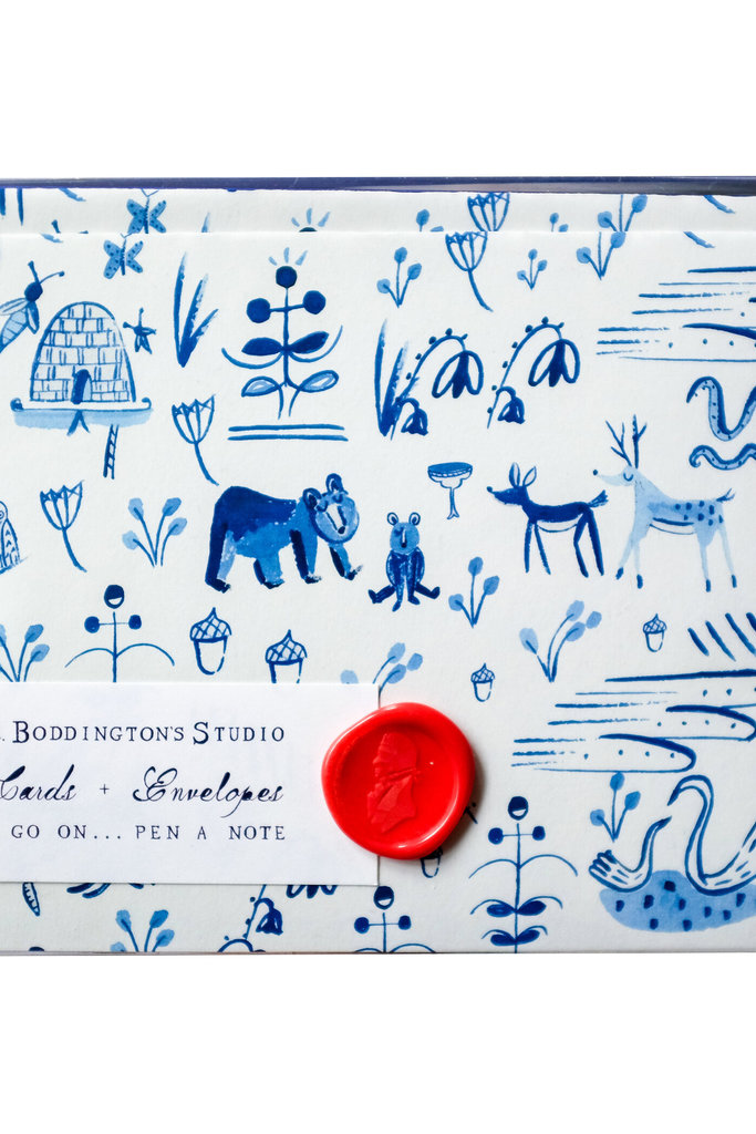Mr. Boddington Cards Forest Animal Toile Notecards