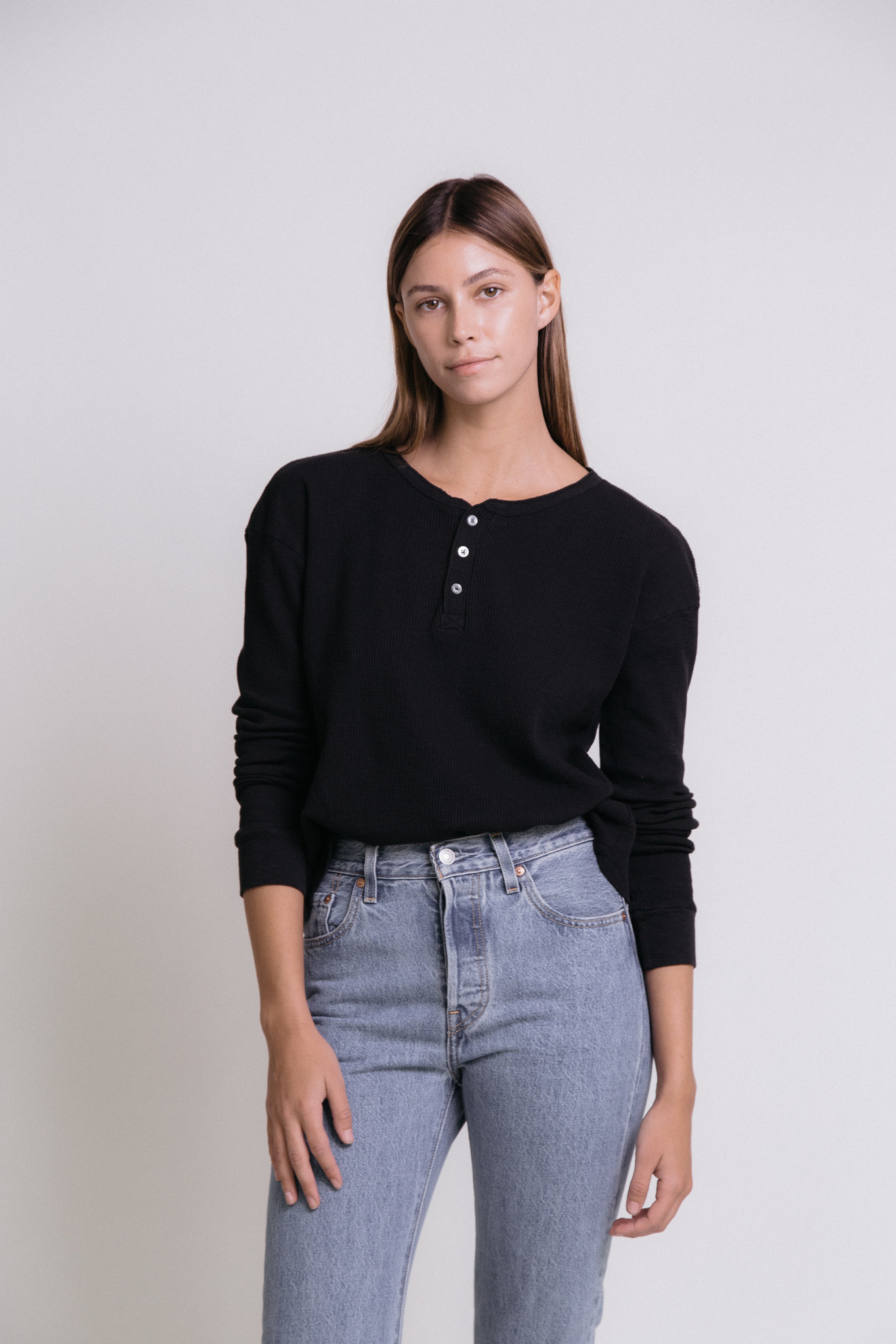 christina Lehr Thermal Henley Top
