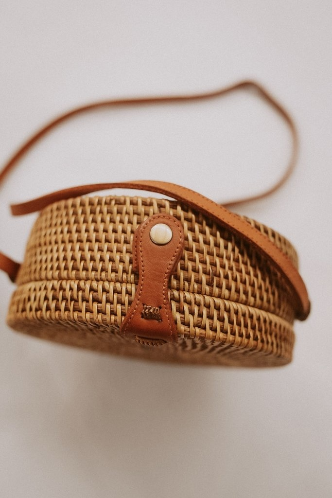 Village Thrive Village Thrive Round Rattan Purse - Multiple Colors