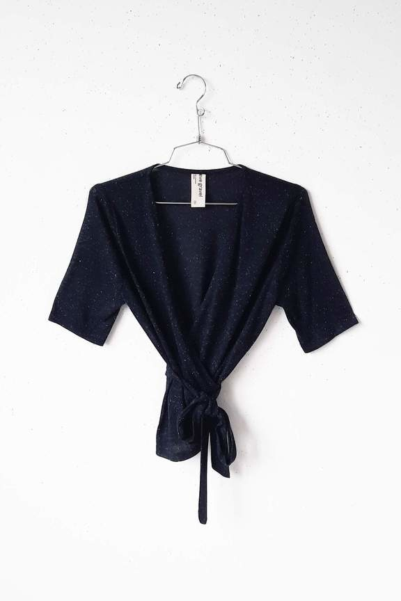 Eve Gravel Coyote Wrap Top