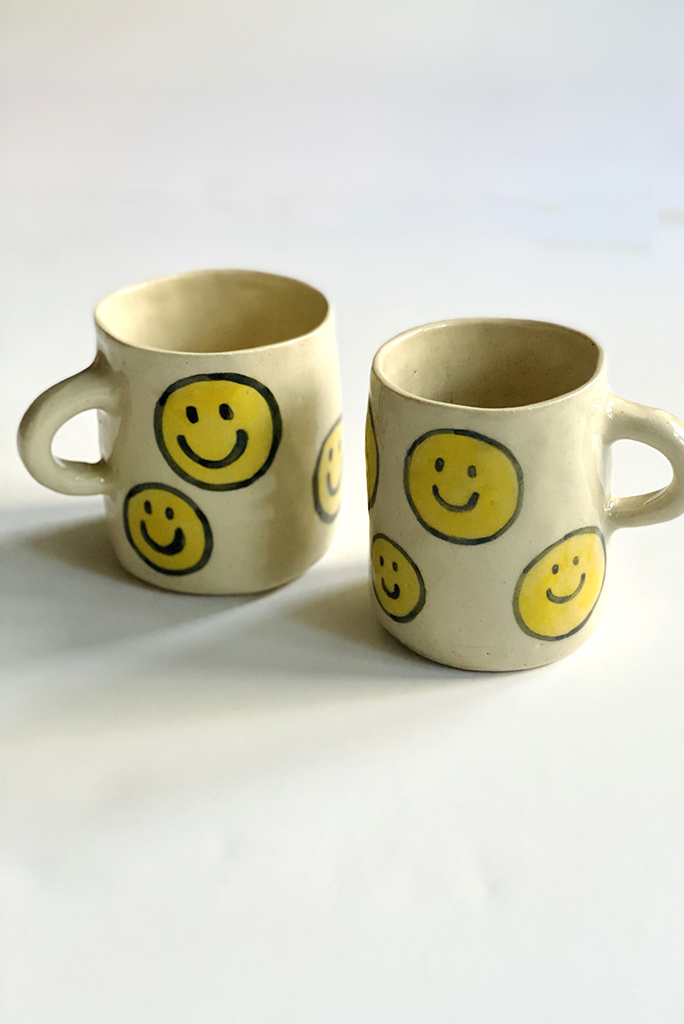 Alice Cheng Studio Large Smiley Faces Mug