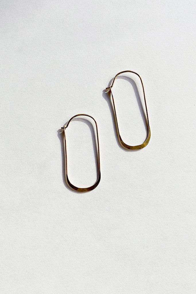 Satomi Studio Oval Wire Hoop