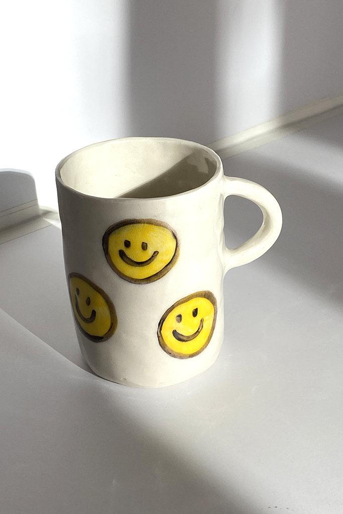 Alice Cheng Studio Porcelain Smiley Mugs
