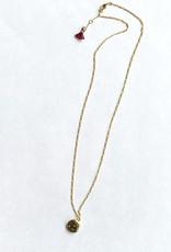 shashi Baby Locket Necklace Gold Fill