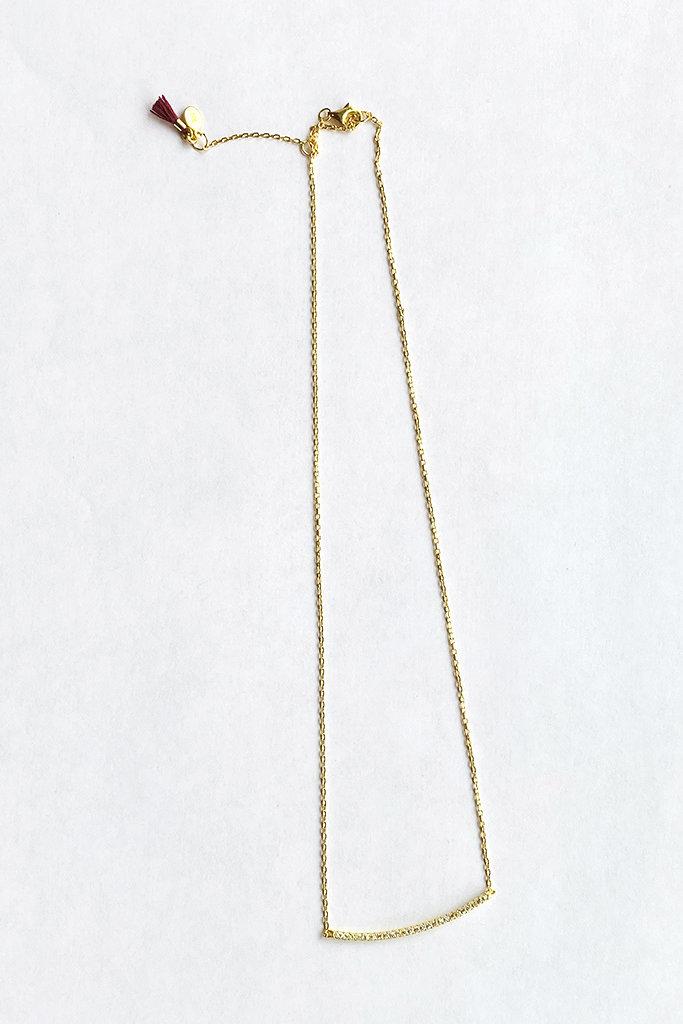 shashi Bar Pave Necklace