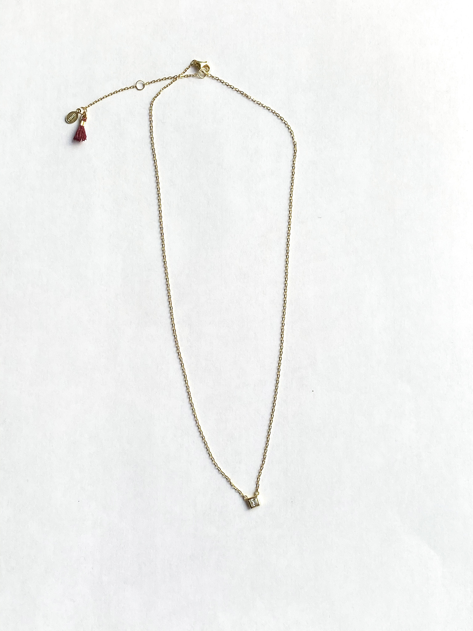 shashi Solitaire Square Necklace