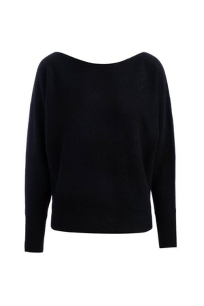 Naadam Cashmere Boatneck Pullover -size S