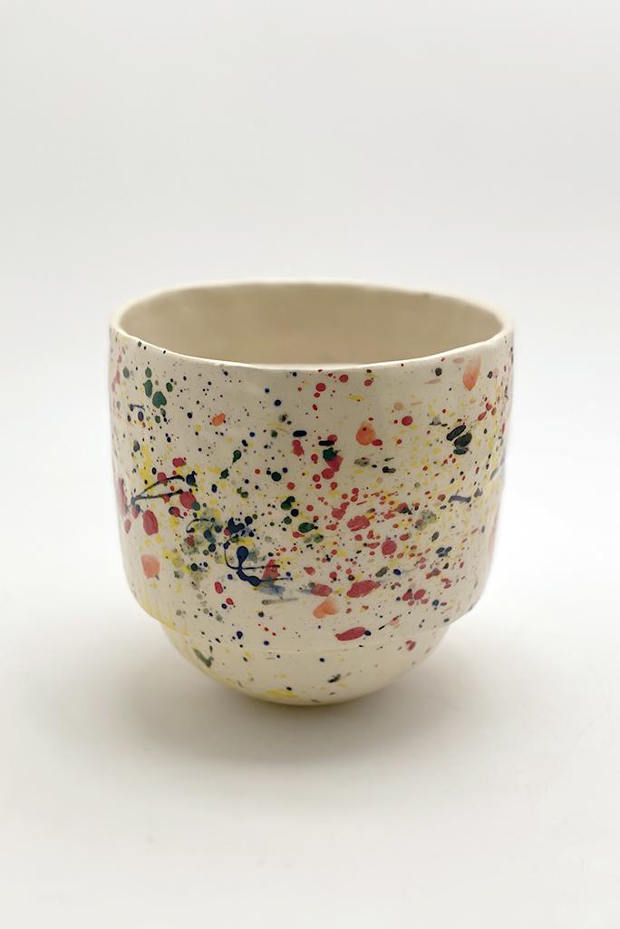 Alice Cheng Studio Round Bottom Splatter Planter