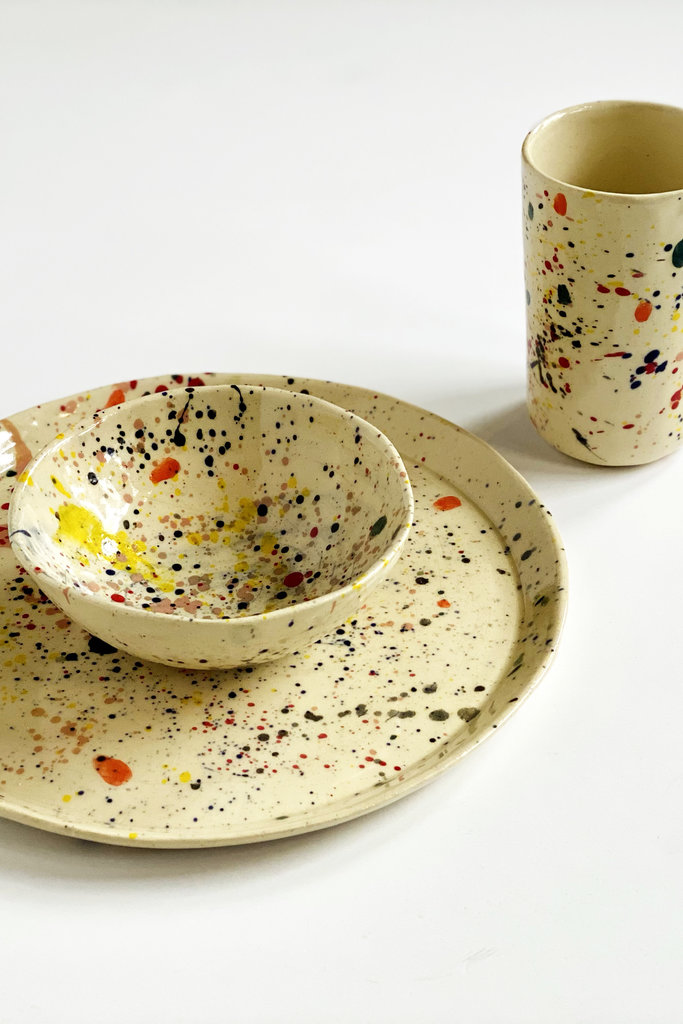 Alice Cheng Studio Splatter Dinner Set For 2