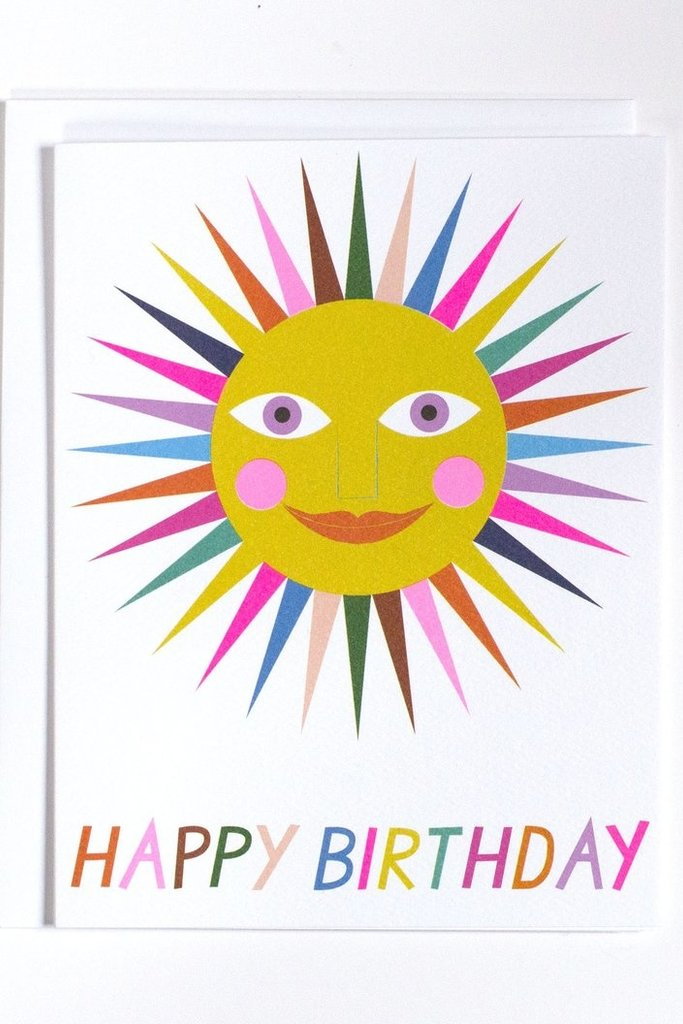 Banquet Happy Birthday Rainbow Sun Note Card