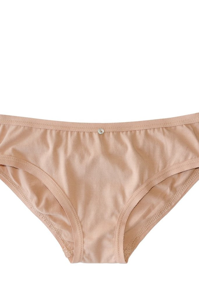 Botanica Workshop Lila Organic Cotton Bikini Brief in Petal