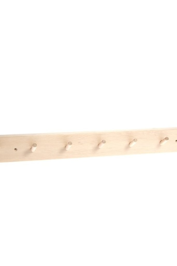 Iris Hantverk Birch Wood Rack with 7 Hooks