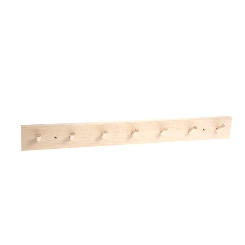 Iris Hantverk Birch Wood Rack with 7 Hooks
