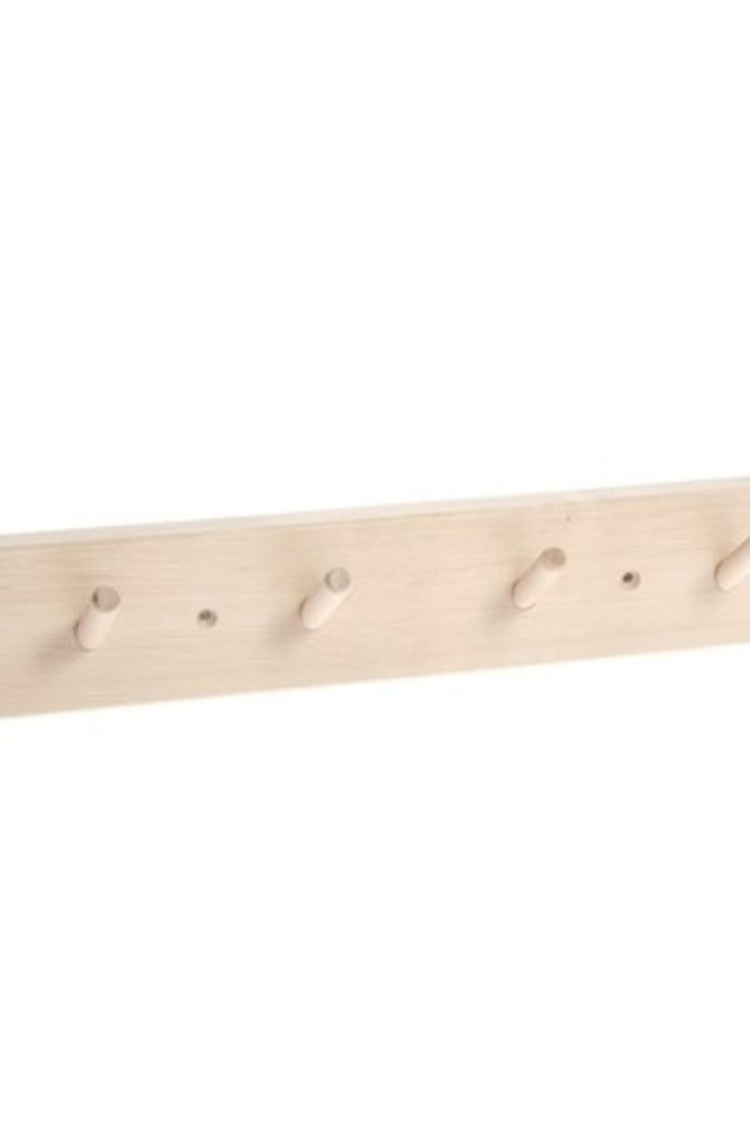 Iris Hantverk Birch Wood Rack with 4 Hooks