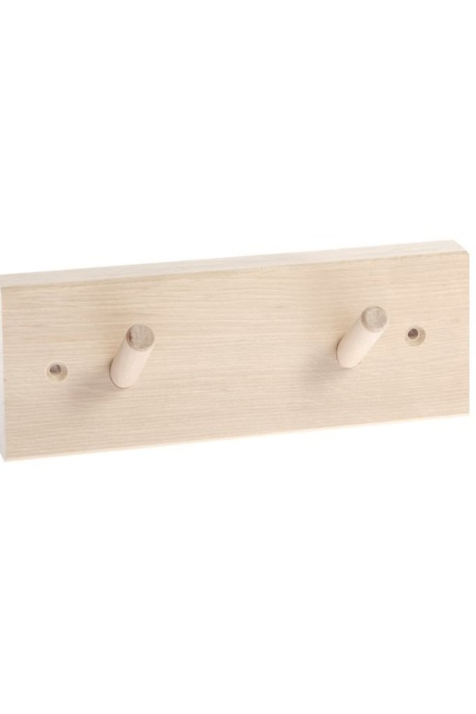 Iris Hantverk Birch Wood Rack with 2 Hooks