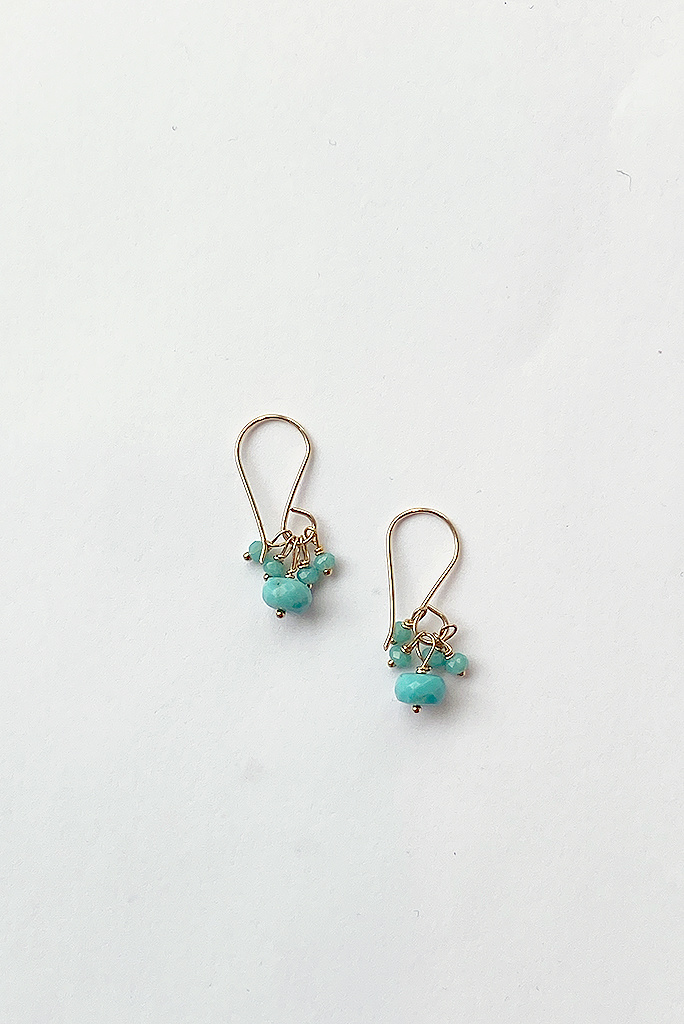 Debbie Fisher Turquoise Cluster Earring
