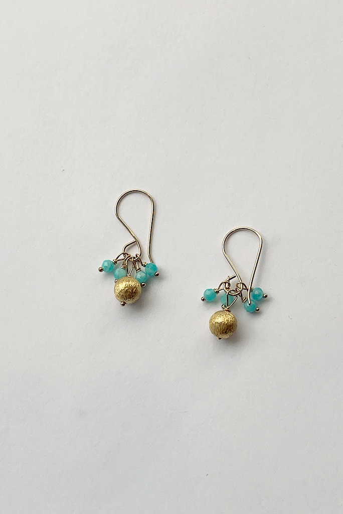 Debbie Fisher Amazonite Cluster  Earring