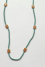 Debbie Fisher Jade Seed with GP Bead Necklace