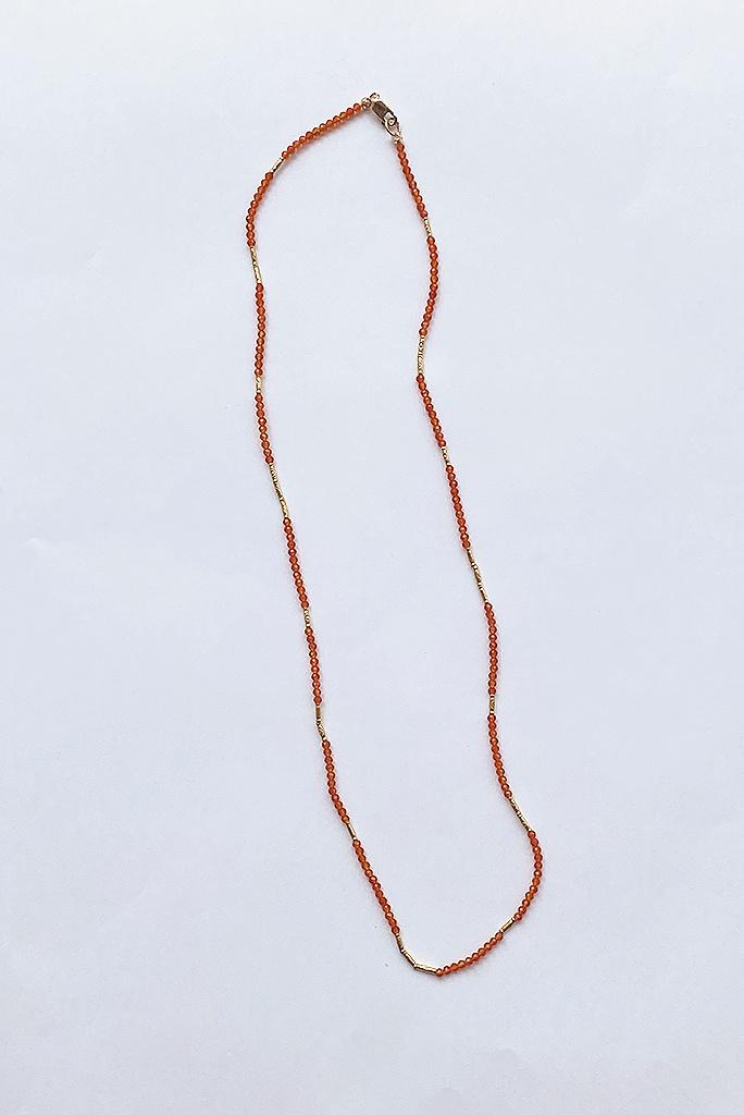 Debbie Fisher Carnelian Beaded Necklace