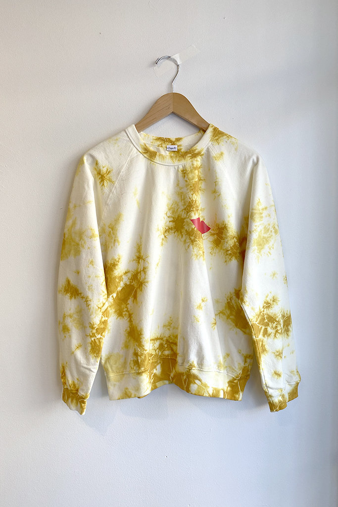 Clare V Marigold  Tie Dye Lips Sweatshirt - Size S
