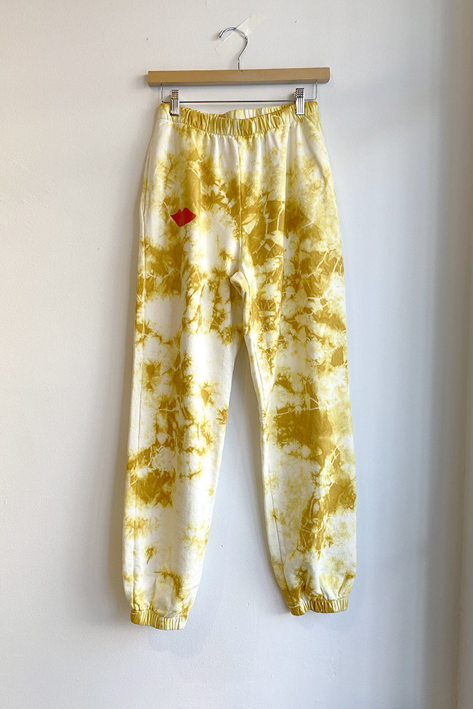 Clare V Tie Dye Marigold Lips Sweatpants