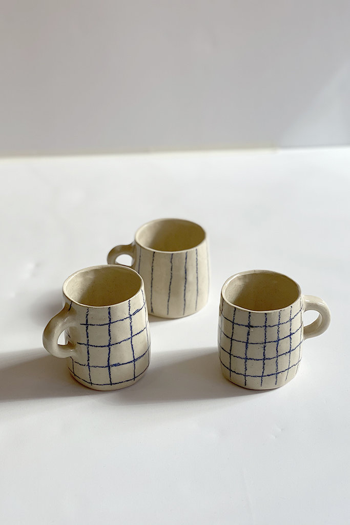 Alice Cheng Studio Line Grid Mugs