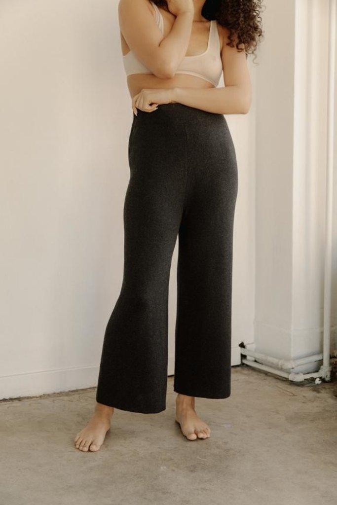 Bare Knitwear Coastal Pants Graphite Pima Cotton