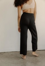 Bare Knitwear Coastal Pants Graphite Pima Cotton