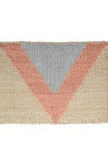 Langdon Ltd Arrow Doormat Silver/ Peach
