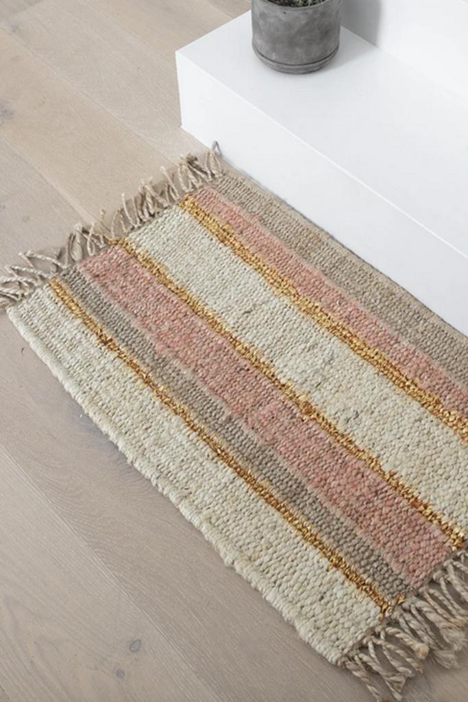 Langdon Ltd Peachy Stripe Doormat