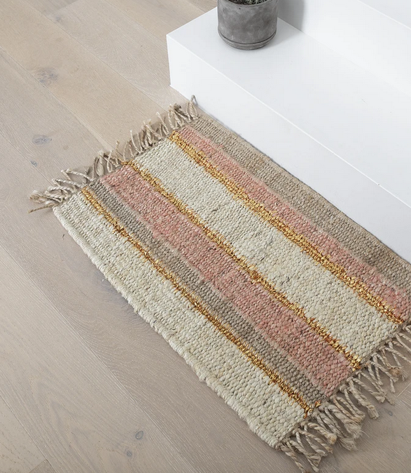 Langdon Ltd Peachy Stripe Doormat