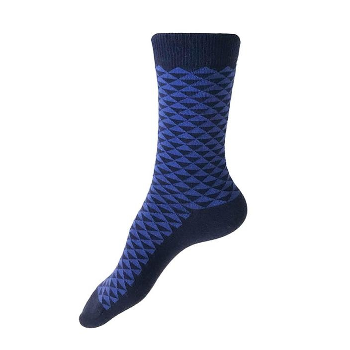 This Night Kyoto Patterned Cotton Blend Socks