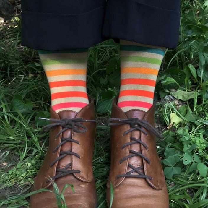 This Night Joy Rainbow Striped Socks
