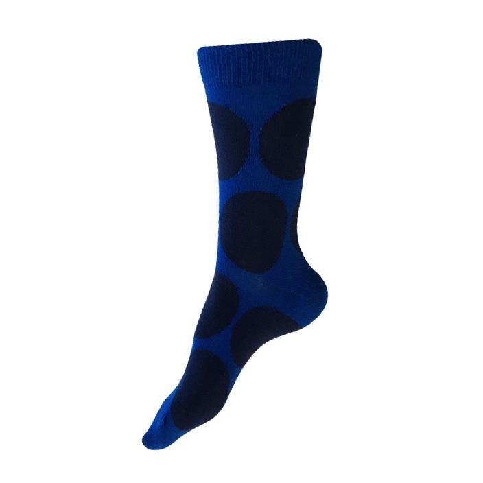 This Night Large Dot Cotton Blend Socks