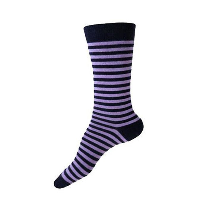 This Night Stripe  Cotton Blend Socks