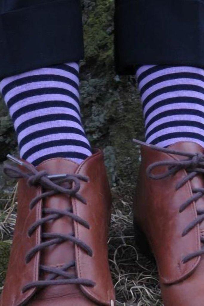 This Night Stripe  Cotton Blend Socks