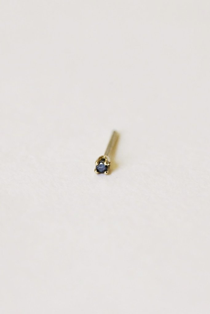 Gjenmi Baby Studs Blue Sapphire Pair