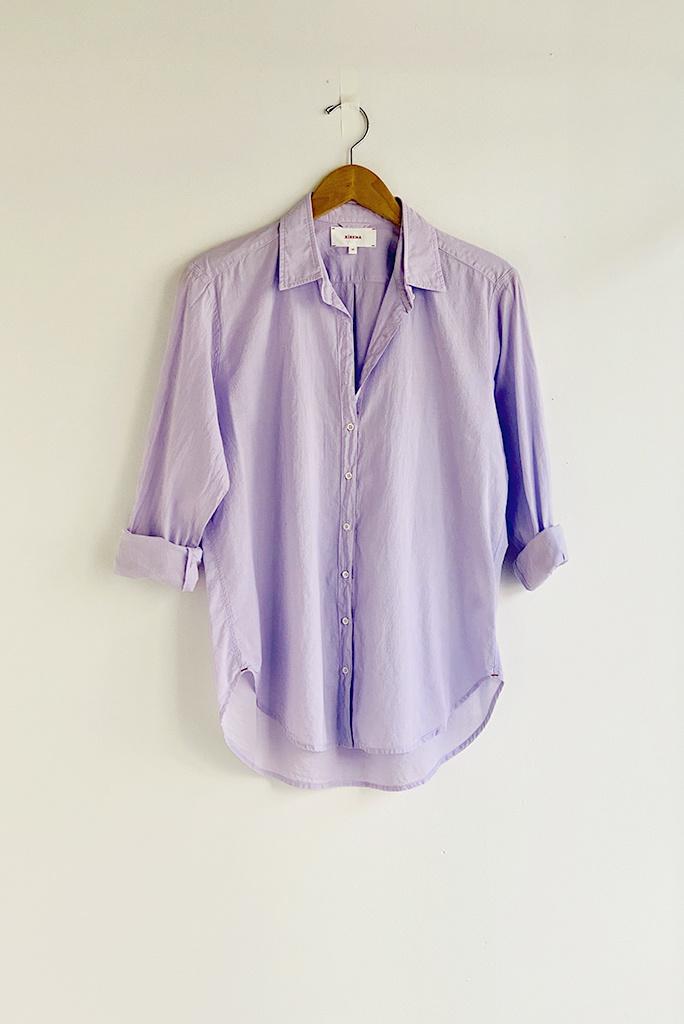 Xirena Cotton Beau Shirt in Lavender Bloom