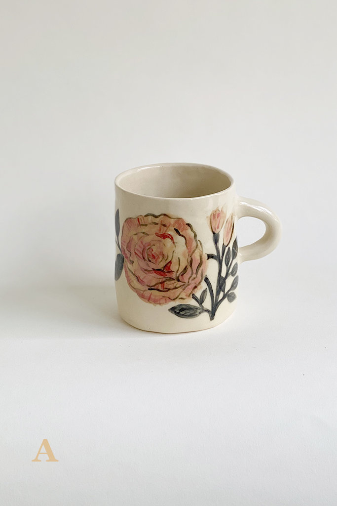 Alice Cheng Studio Painted Springtime Mugs