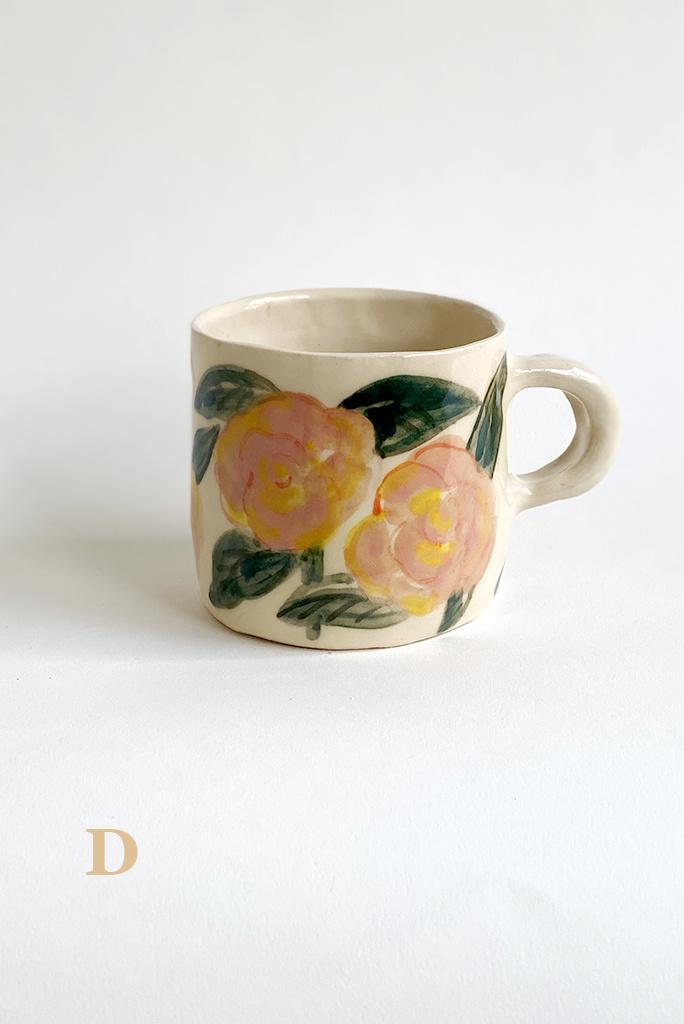 Alice Cheng Studio Painted Springtime Mugs