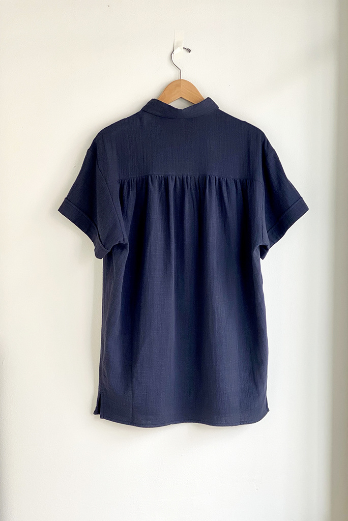 Sessun Lime Road Navy Cotton Button Up Tunic