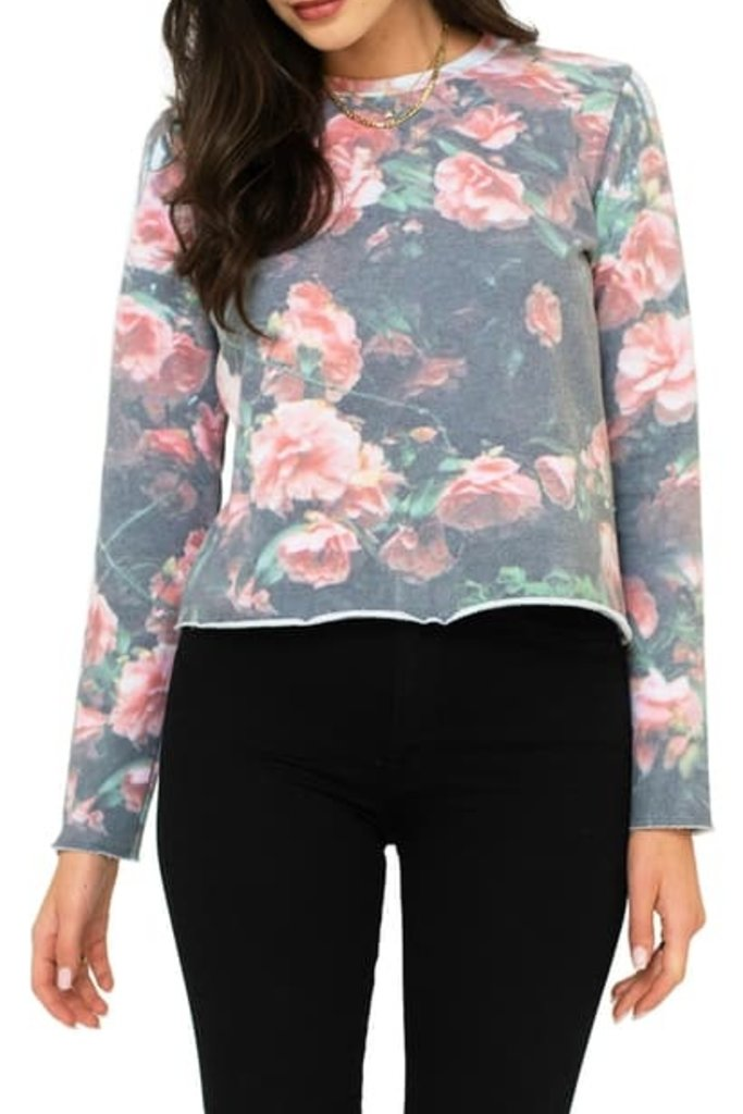 Sol Angeles Cherry Blossom Crop Pullover - XS