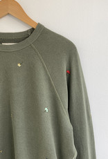 The Great The College Sweatshirt w/ Tossed Floral Embroidery - Multiple Colors