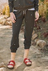 The Great The Cropped Sweatpant w/ Tossed Floral Embroidery - Multiple Colors