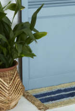Langdon Ltd Cobalt Striped Doormat