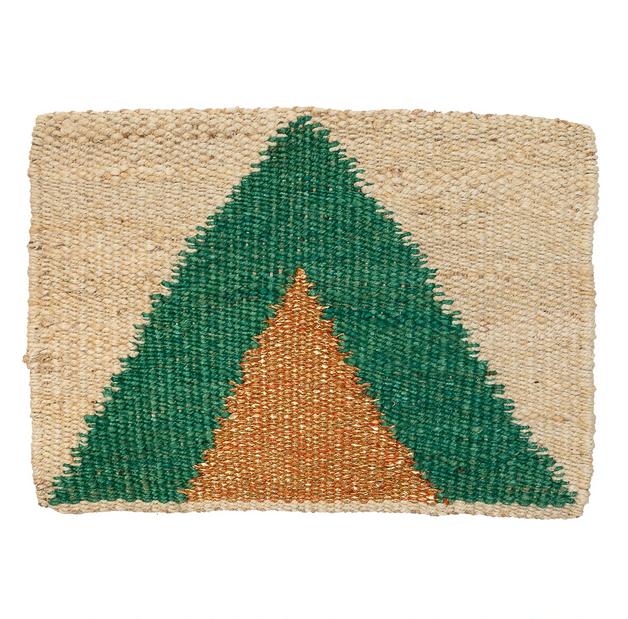 Langdon Ltd Arrow Mat Green/Gold
