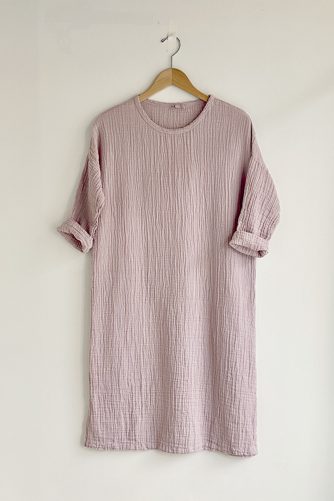 It Is Well L.A. Everyday L/S Gauze Dress Lilac